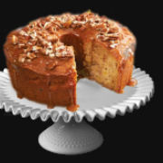 Apple Cake Caramel Glaze