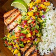 Salmon with Mango Salsa