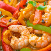 Shrimp with Bell Peppers