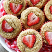 StrawberryBananaMuffins