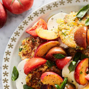 Peach Tomato Corn Fritter