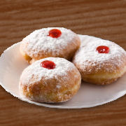 Hanukkah Sufganiyot Jelly Doughnuts
