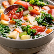 Slow-Cooker Chunky Vegetable Soup